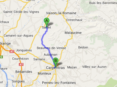 Sablet to Carpentras