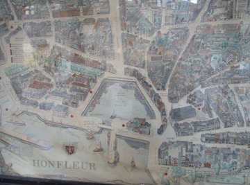 Old Map Of Honfleur