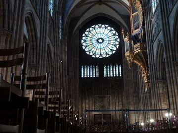 Inside the Strasbourg Cathedral